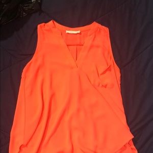 Sleeveless coral top from Nordstrom
